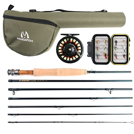 M MAXIMUMCATCH Maxcatch Traveler Fly Fishing Rod 7-Piece IM10 Carbon Rod with Cordura Tube in 5 6 7 8 Weight