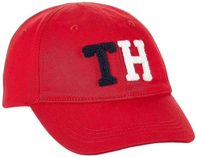 Tommy Hilfiger Badge Cap, Gorra para Niñas, Rojo (Mars Red 694) 11