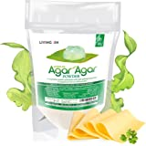 Agar Agar Powder 4oz : Gelatin Substitute, Vegan, Unflavored, Gummy bears, Cheese, Vegetarian, Gluten-free, Non-GMO…
