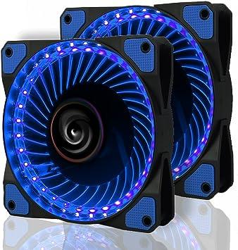 LeaningTech 2 pcs LED Ventilador, LTC litflow 120 mm High Airflow ...