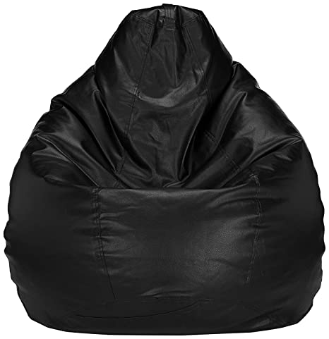 Brilliant Buy Frnzgly Xxl Bean Bag Cover With Beans Black Machost Co Dining Chair Design Ideas Machostcouk