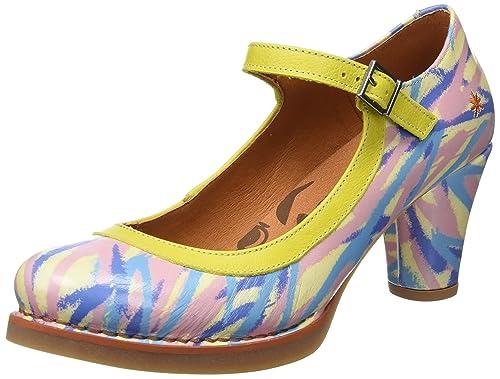 0933F Fantasy Harlem, Zapatos de Tacón con Punta Cerrada para Mujer, Varios Colores (Hawai), 38 EU Art