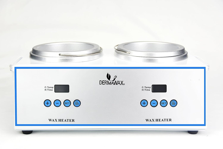 Profesional digital doble calentador Cera de cera calentador de con tapa de depilation Cera Tensiómetro para depilación de Waxing: Amazon.es: Salud y ...