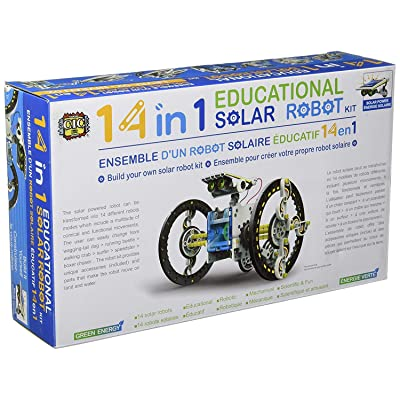 SuperSmartChoices S.T.E.A.M. Line Toys 14-in-1 Educational Solar Robot Kit: Toys & Games