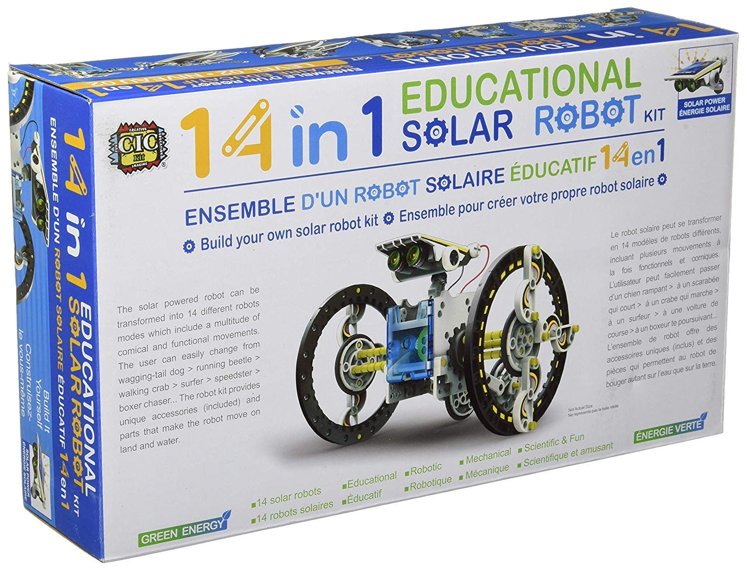 SuperSmartChoices S.T.E.A.M. Line Toys 14-in-1 Educational Solar Robot Kit