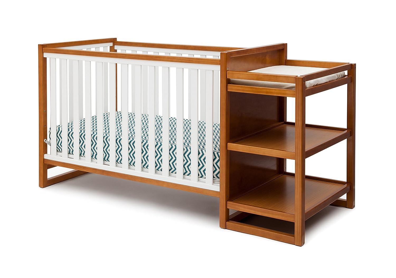 Amazon.com : Delta Children Gramercy Convertible Crib U0027Nu0027 Changer,  White/Honey : Baby