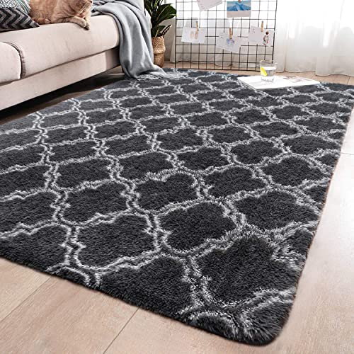 YJ.GWL Soft Indoor Large Modern Area Rugs Shaggy Patterned Fluffy Carpets Suitable