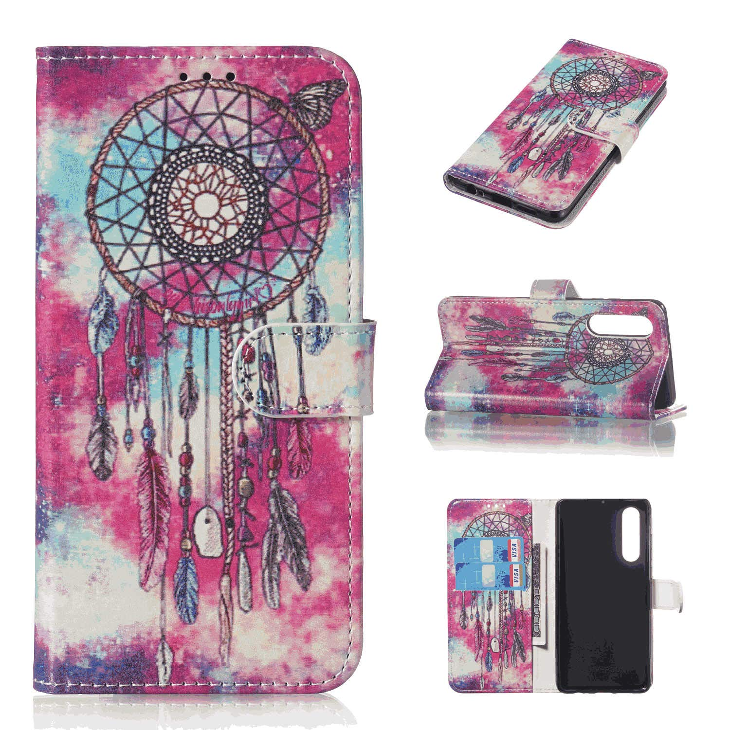 Leather Case Compatible with Huawei P30 lite with Extra Waterproof Case Pouch Wallet Cover for Huawei P30 lite Business Gifts