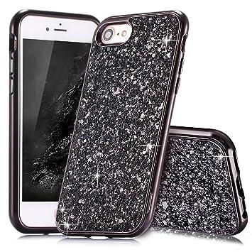 coque iphone 6 silicone noir paillettes
