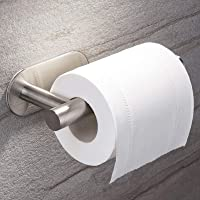 Favydov Toilet Paper Roll Holder, No Drilling Self Adhesive Wall Mount SUS304 Stainless Steel Bathroom Tissue Dispenser