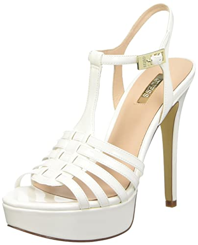 878fd225decff GUESS Women s Kamali Open Toe High Heel Sandals White 5.5 6 UK  Buy Online  at Low Prices in India - Amazon.in