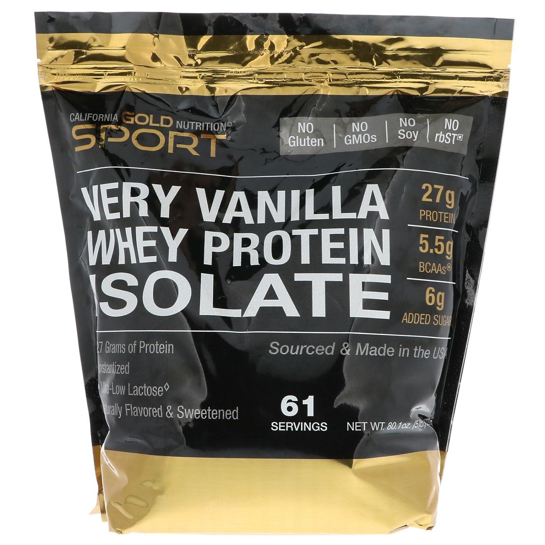 California Gold Nutrition ホエイプロテイン アイソレート(WPI 90+) 超低乳糖 ベリーバニラ (2.27kg) 海外直送品 B07FG1MLCD