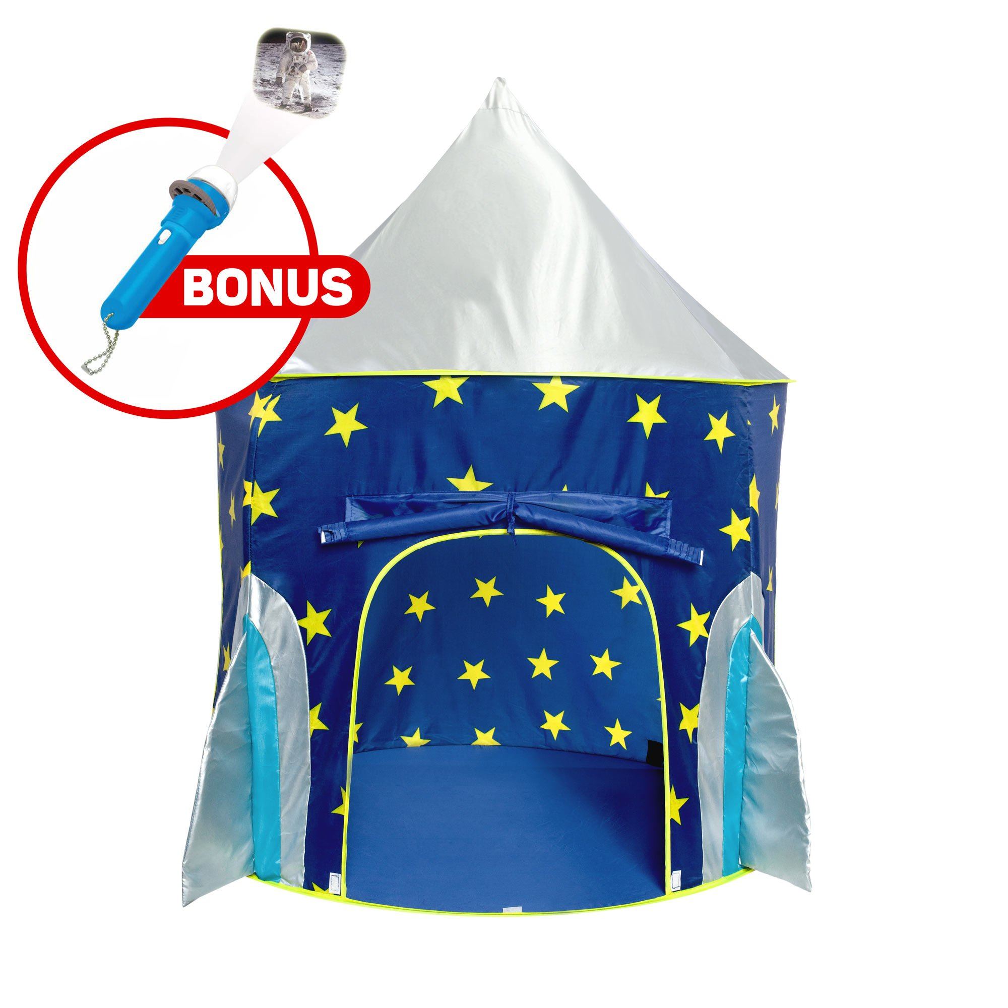 "Kids Play Tent for Boys and Girls - ""USA Toyz Rocket Ship"" Kids Tent + Playhouse Tent Toddler Toys Projector for Indoor Tent or Outdoor Tent for Kids"