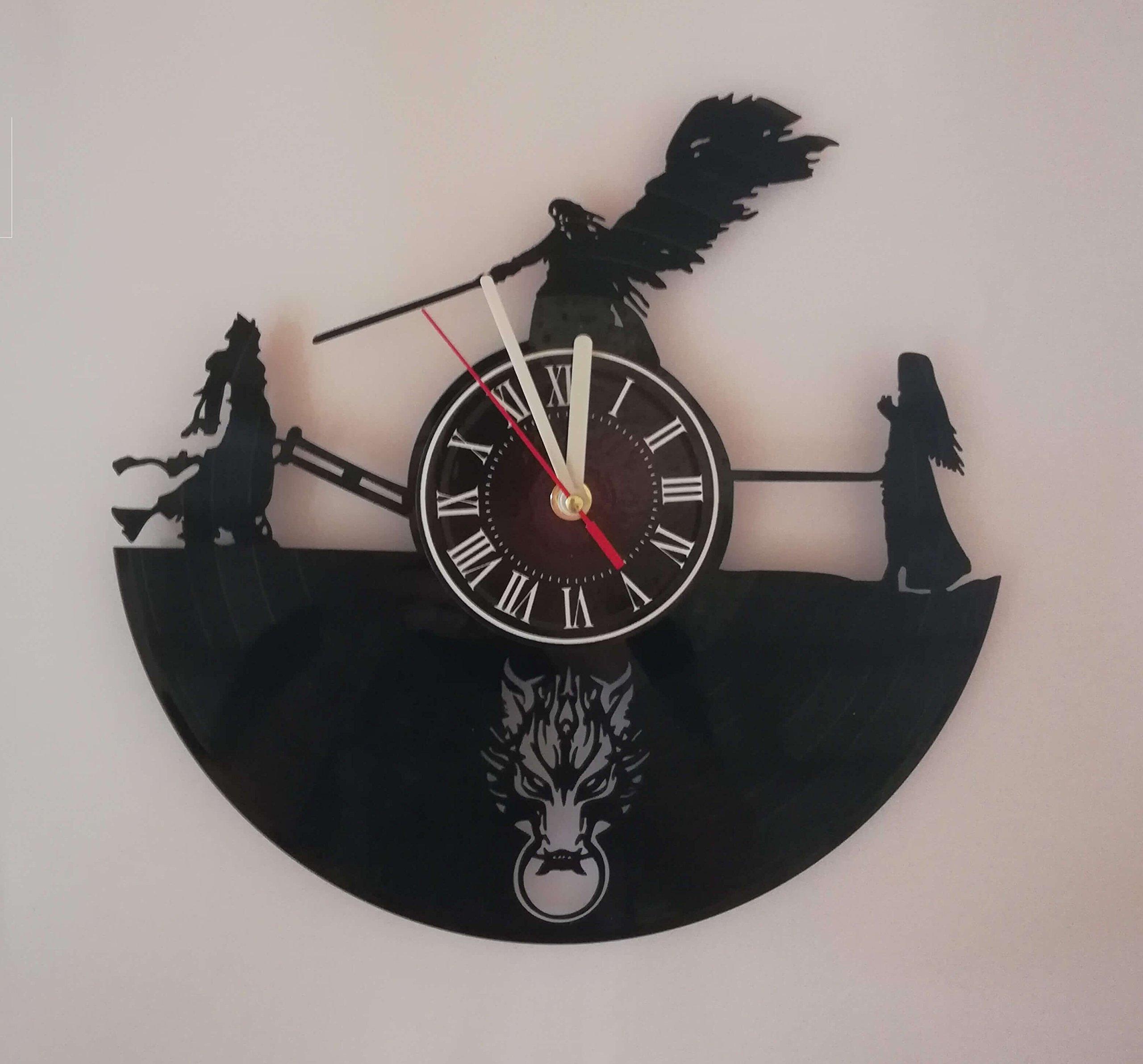 Final Fantasy VIVI 7 Handmade Vinyl Record Wall Clock - Adventure Anime PS PC Games room wall decor - Gift ideas for parents, teens – Epic Movie Unique Modern Art …