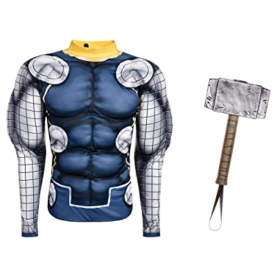 Party City Instant Thor Transformation in a Box for Child, Halloween Costume, Includes Muscle Shirt and Thor Hammer: Kitchen & Dining
