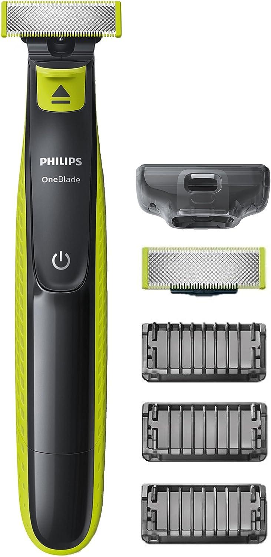 Philips QP2520/30 OneBlade Rade, Regola e Rifinisce, 3 Pettini Regolabarba + 1 Lama di Ricambio