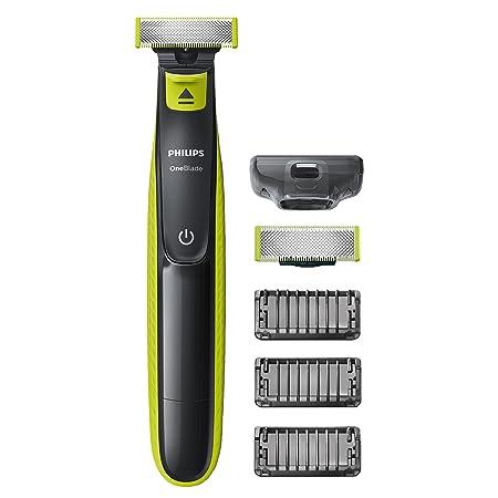 Philips OneBlade QP2520/30 - Recortador de barba, recorta, perfila y afeita, recargable