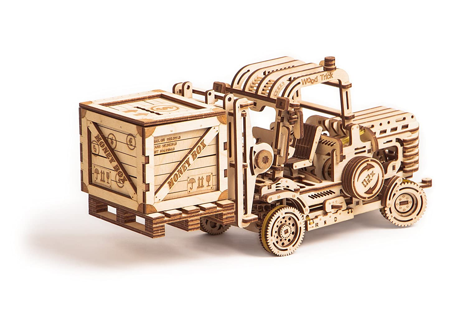 Wood Trick Model 3D Mechanical Teens Model Forklift Wooden Puzzle, Assembly for Constructor, Brain Teaser, Best DIY Toy, IQ Game for Teens and Adults B07BM22Q2Y, 広島市:d51b025b --- m2cweb.com
