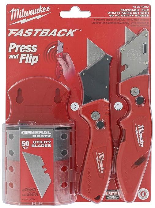Amazon.com: Milwaukee Fastback - Juego de cuchillos de ...