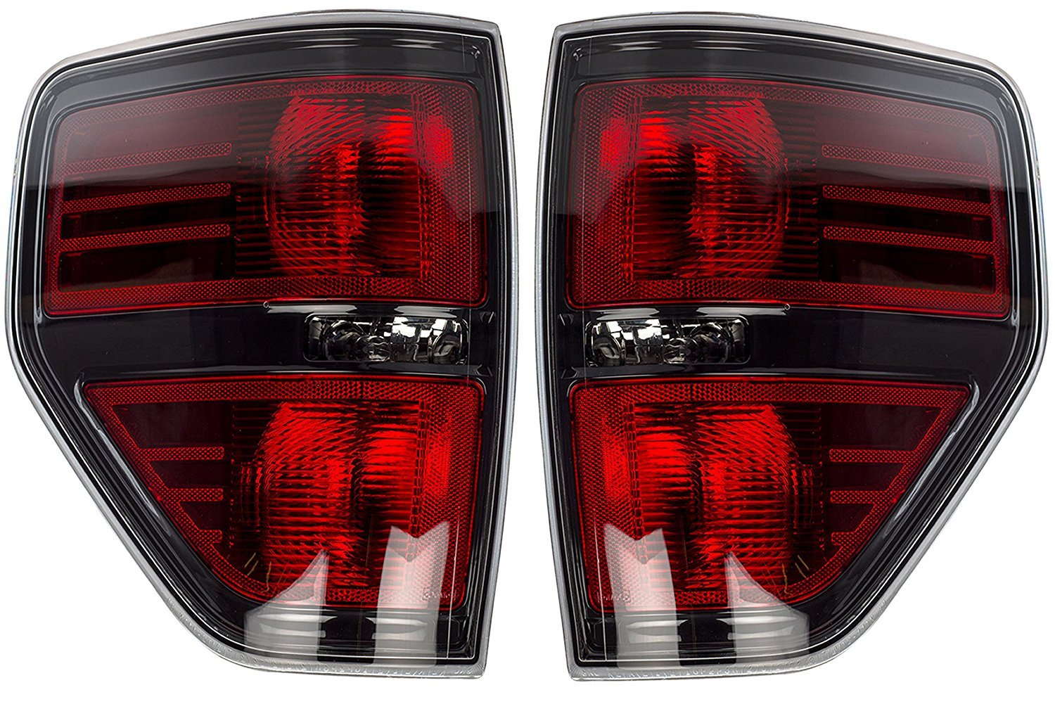 OEM Ford F-150 Black Housing Tail Light Pair - SVT Raptor, Harley Davidson AL3Z13404AE BHBAZUKAZIND3768