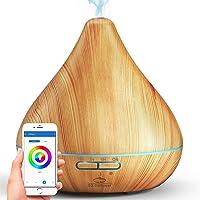 GX·Diffuser Smart Wi-Fi Essential Oil Diffuser, App Control Compatible With Alexa, 2021 Upgrade Design, 300ml…