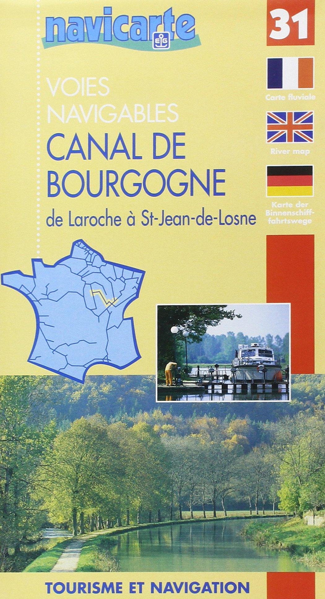 Canal De Bourgogne Carte.Fluviacarte 31 Canal De Bourgogne 3347570100318 Amazon Com Books