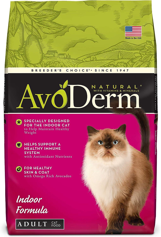 AvoDerm Natural Indoor Formula Dry Cat Food, Healthy Skin and Coat