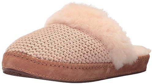 64681d5e3cf UGG Women's Aira Knit Slip on Slipper, Cream, 5 M US: Amazon.ca ...