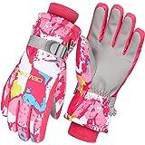 Cevapro スキーグローブ キッズ スノーボード グローブ 子供 スキー手袋 ジュニア 防水 防寒グローブ 3Mシンサレート 冬用 5本指 スマホ対応 滑り止め 厚手 通気性 裏フリース 登山 雪遊び -20℃使用可