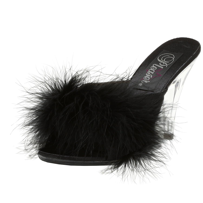 Pleaser Women's Caress-401F Sandal B00125V0FG 6 B(M) US|Black