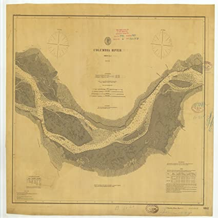 Amazon.com: Vintography 8 x 12 inch 1878 US Old Nautical map Drawing ...