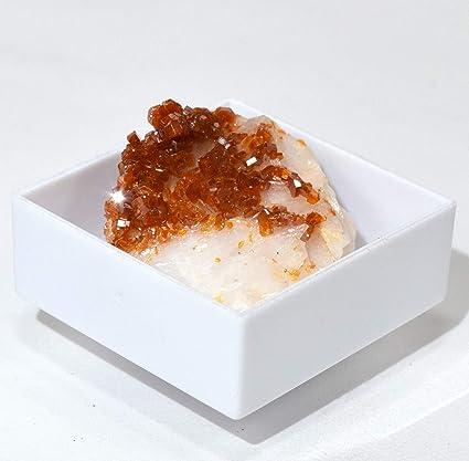 HQRP 80 CT Naranja vanadinita Mineral en Caja Brillante Coleccionable Gemstone Cristal geoda Cluster especímenes de