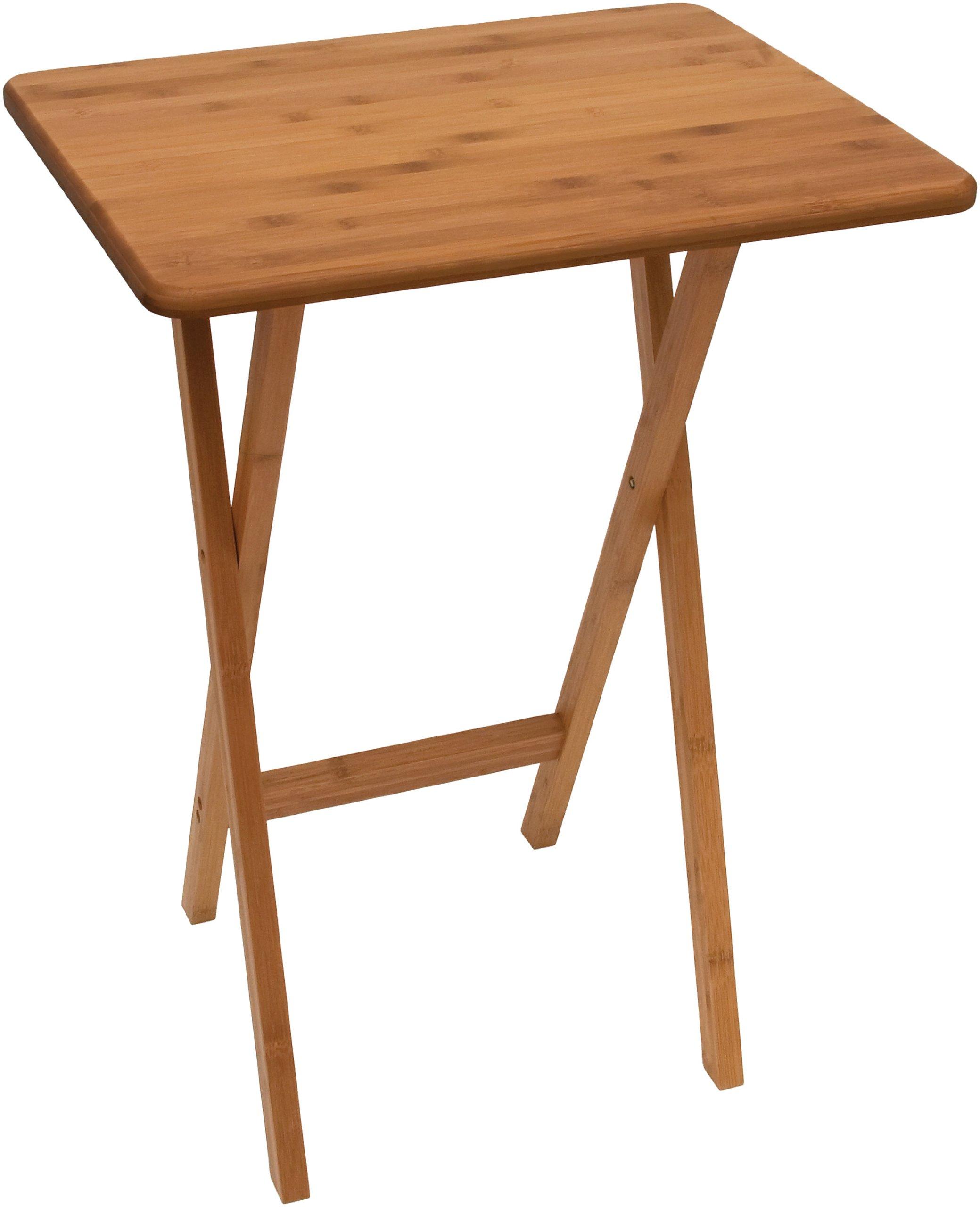 Lipper International 803 Bamboo Wood Rectangular Snack Table, 18.75'' x 15'' x 24.75'', One Table