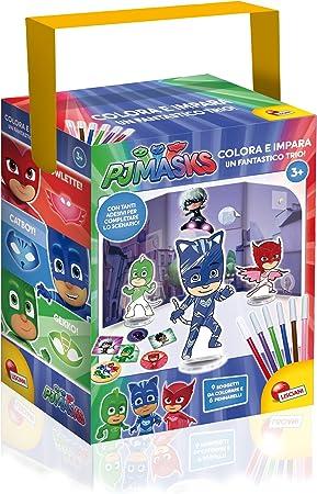 Lisciani Giochi 62898 – PJ Masks, Colorea y aprende, un fantástico Trío , color/modelo surtido