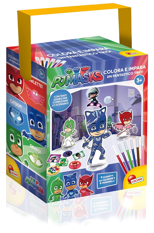 Lisciani Giochi 62898 - PJ Masks Colora e Impara Un Fantastico Trio