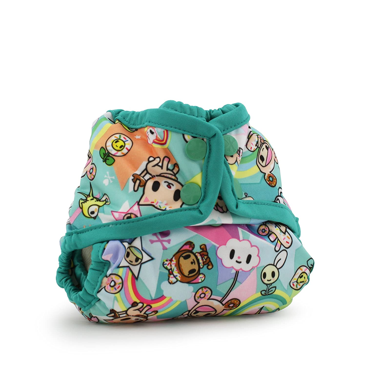 Kanga Care Rumparooz One-Size Cloth Diaper Cover, Snap, Dragons Fly, Castle KRCOVRSOS-P126b