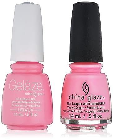 Amazon.com : China Glaze Gelaze Tips and Toes Nail Polish, Bottoms ...