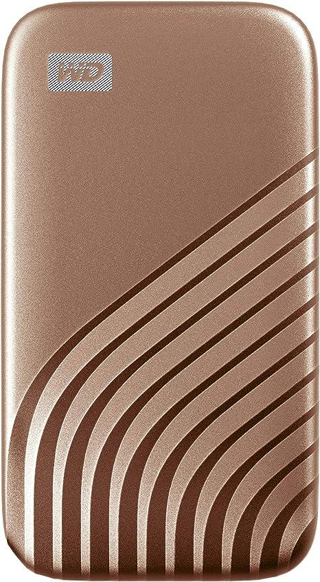 TALLA 2 TB. WD My Passport SSD 2TB - tecnología NVMe, USB-C, velocidad de lectura hasta 1050MB/s & de escritura hasta 1000MB/s - Oro