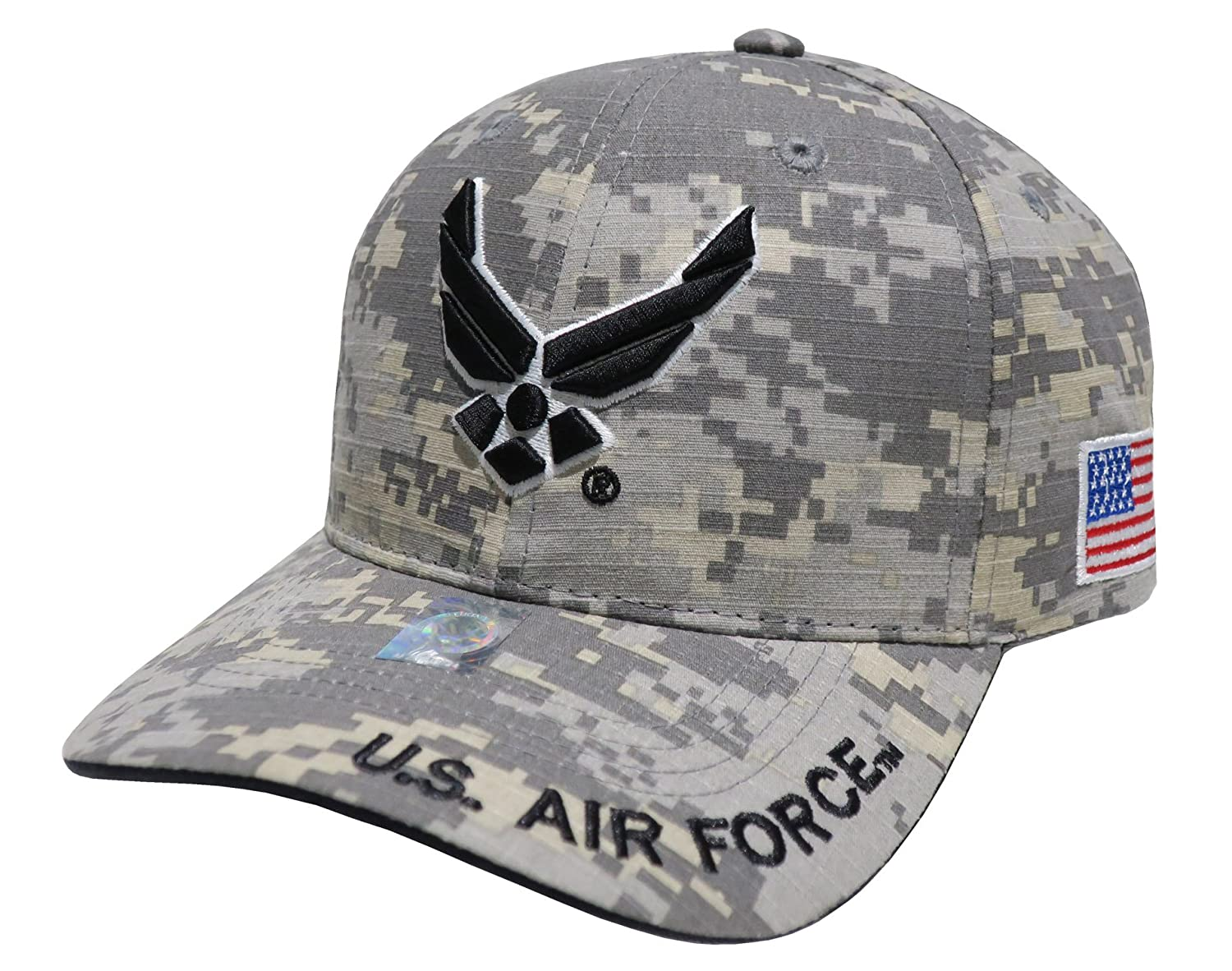 US Armed Forces Embroidered Military Baseball Cap Hat (AF Wing Only  Universal) at Amazon Men s Clothing store  1ef36785a9e
