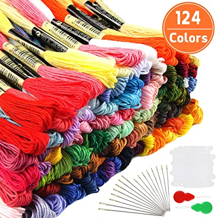 36 Or 100 Floss Embroidery Skeins 8 Metre Threads Cross Stitch Embroidery