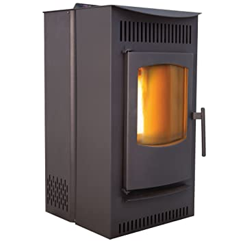 Castle Pellet Stoves Serenity Wood Pellet Stove, Black