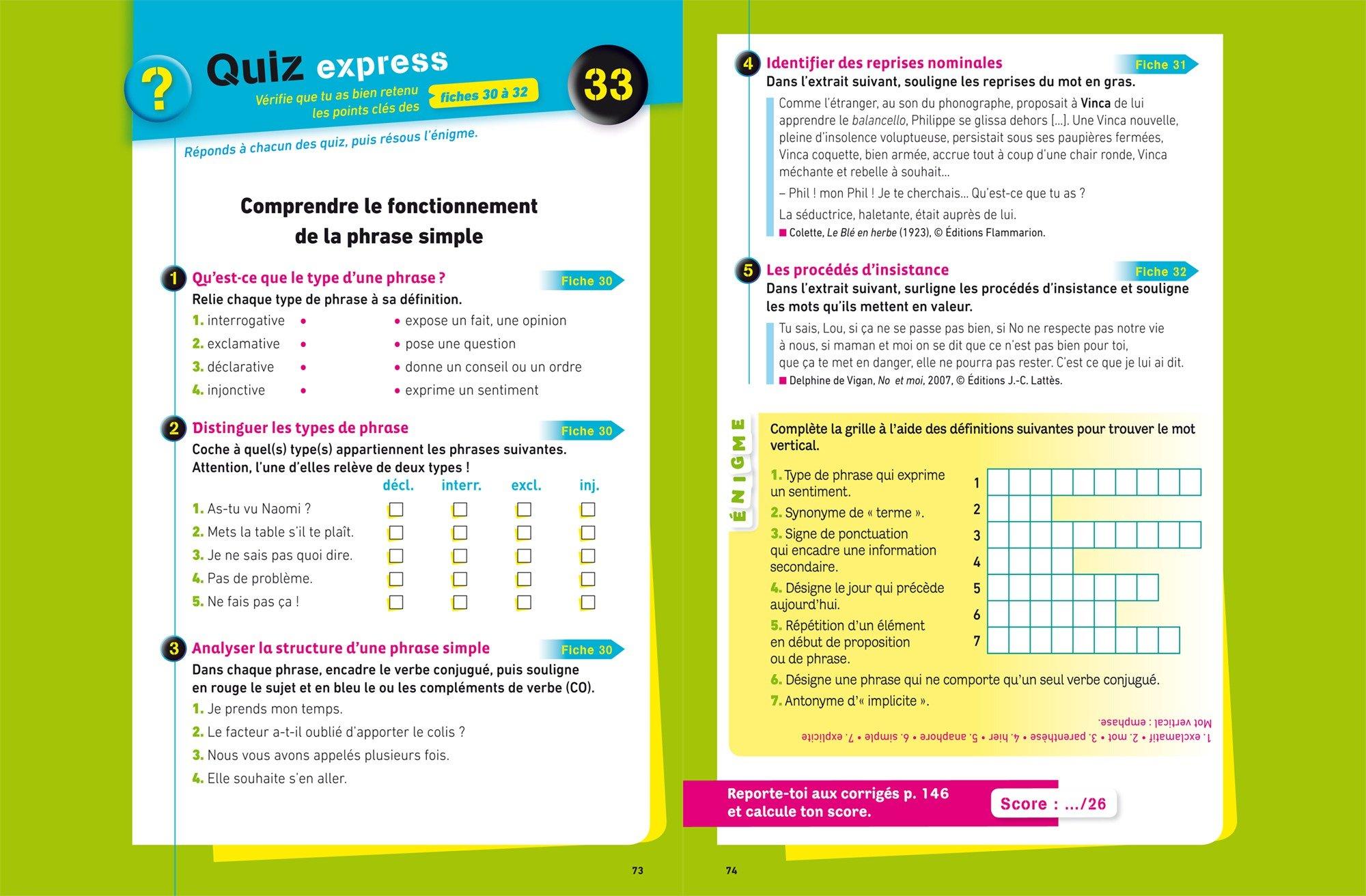 Mes fiches collège Français 3e: 40 fiches de révision et 120 exercices corrigés: Amazon.es: Nora Nadifi, Éric Sala: Libros en idiomas extranjeros