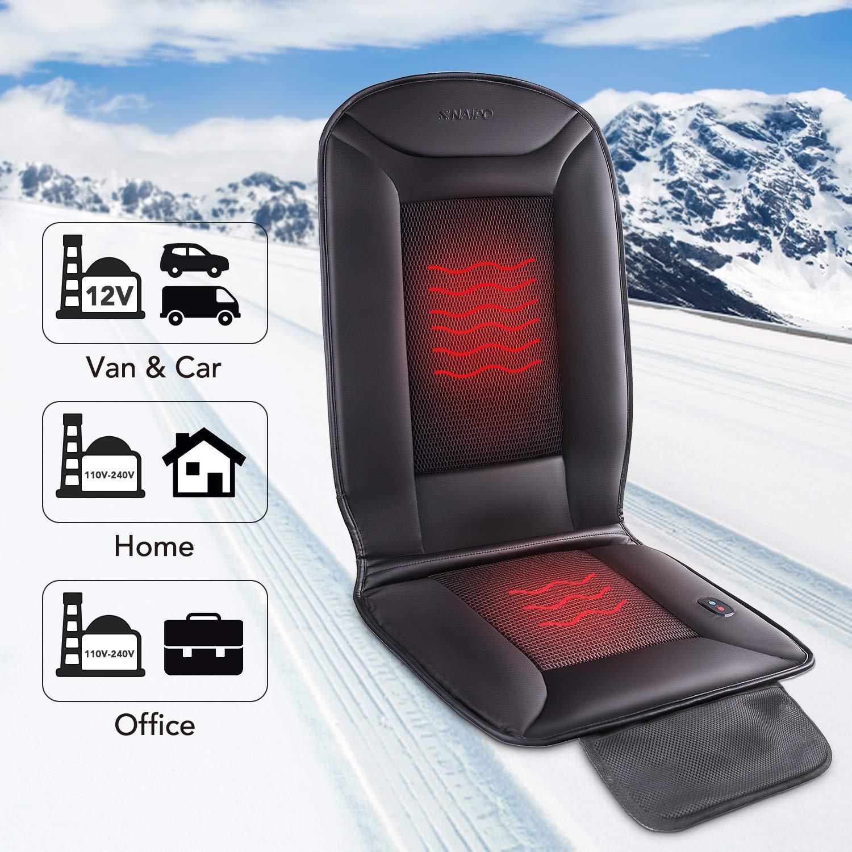 uso stagionale Coprisedile per seggiolino auto Naipo con funzione di riscaldamento e ventilazione e copertura traspirante portatile in rete 3D mesh per seggiolino auto per uso domestico