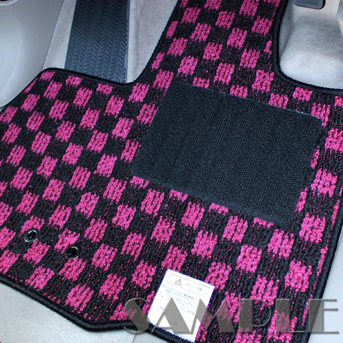 スバル サンバーバン サンバーディアス フロアマット [適応車種:平成11年2月~平成24年2月 MT車]エクセレントMAT-Plus【車種別専用設計社外品自動車マット】【エクセレント チェックピンク】 B075YBJKK3 ピンク ピンク