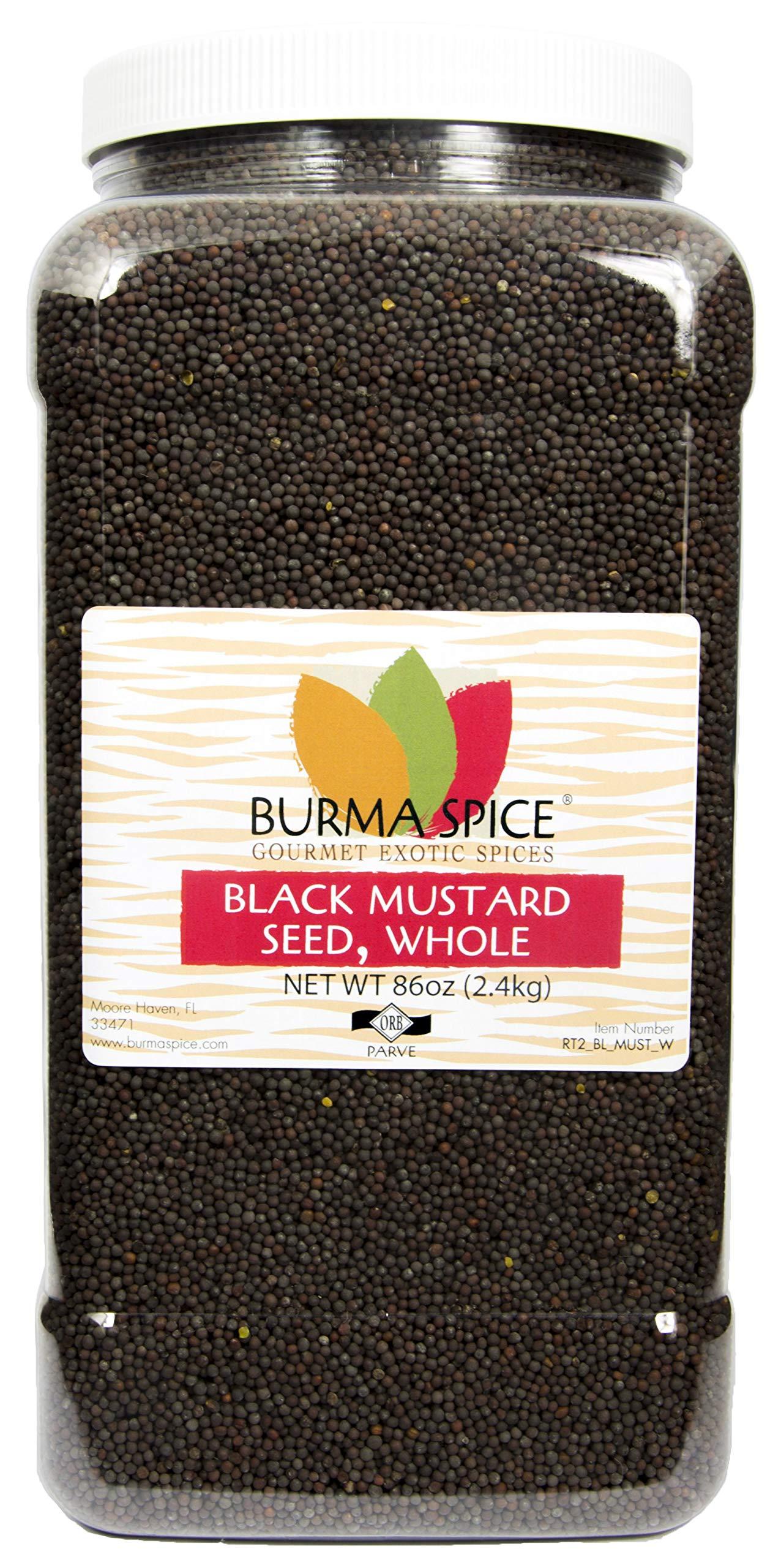 Black Mustard Seed : Whole Dried Seasoning Spice Herb : India (86oz.)