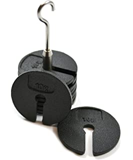 Milageto Pack of 4 Pieces of 200g Slit Weights Set of Weights with Hanger