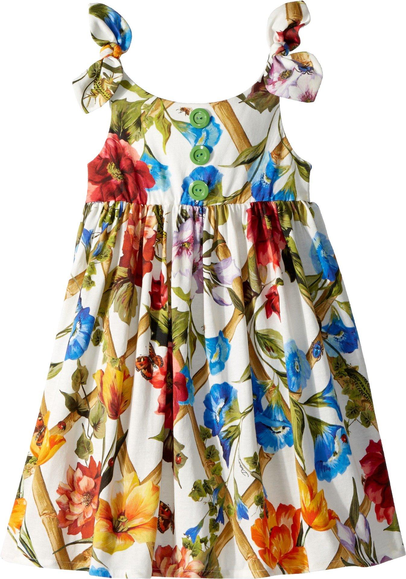 Dolce & Gabbana Kids Baby Girl's Sleeveless Dress (Toddler/Little Kids) White Print 5 by Dolce & Gabbana (Image #1)