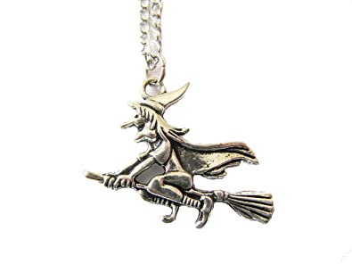 Amazon witch necklace witch charm witch pendant halloween witch necklacewitch charm witch pendant halloween jewelry halloween charm halloween necklace aloadofball Image collections