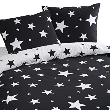 Aminata Home Kinder Bettwäsche Set 135 X 200 Cm Stern E Motiv Star