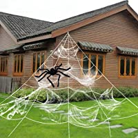HYRIXDIRECT Halloween Spider Web Spider Decoration Deals